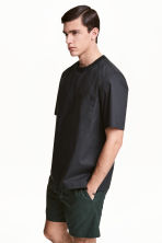 Cotton weave T-shirt - Black - Men | H&M CN 1