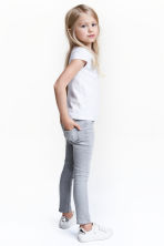Superstretch Skinny Fit Jeans - Light grey washed out - Kids | H&M CN 1