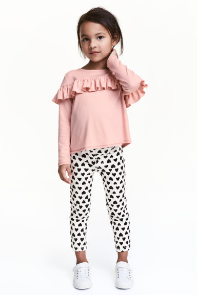Treggings - Natural white/Heart - Kids | H&M CN 1