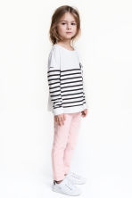 Treggings - Light pink/Glittery - Kids | H&M 1