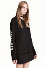 Long-sleeved T-shirt - Black - Ladies | H&M 1