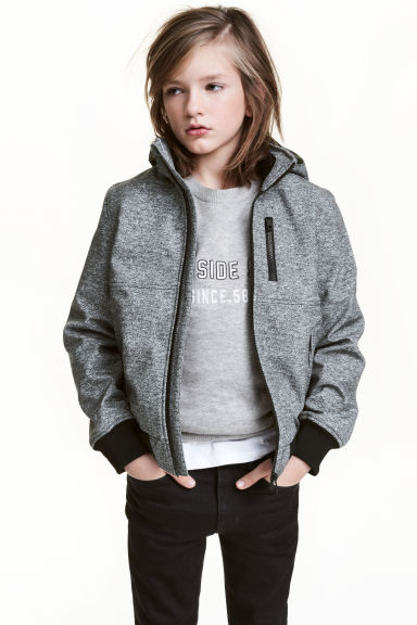 Softshell jacket - Grey marl - Kids | H&M 1