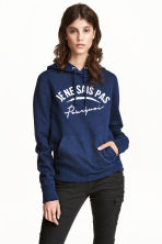 Hooded top - Dark blue marl - Ladies | H&M 1