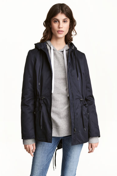 Padded parka - Dark blue - Ladies | H&M CN