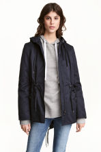 Padded parka - Dark blue - Ladies | H&M CN 1