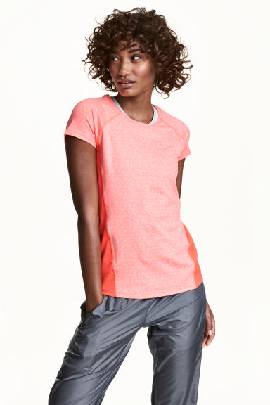 Sports top - Coral marl - Ladies | H&M 1
