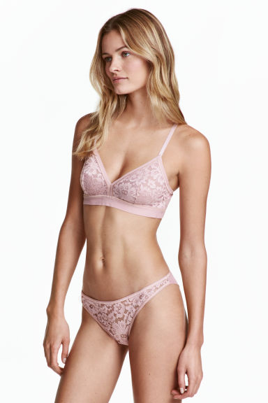Mesh Brazilian briefs - Vintage pink - Ladies | H&M CN 1