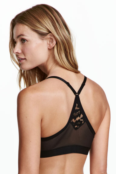 Lace bralette - Black - Ladies | H&M 1
