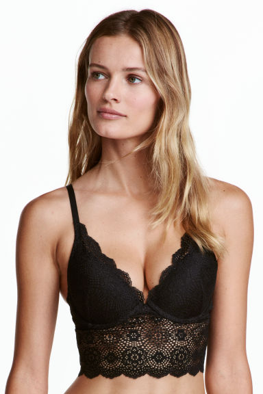 Lace bralette - Black - Ladies | H&M CN 1