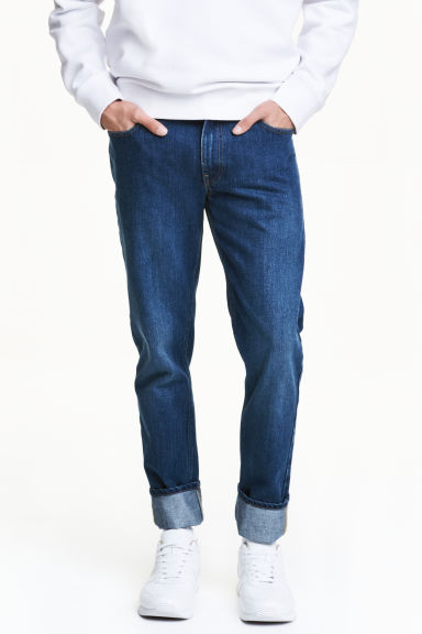 Slim Regular Jeans - Denimblå - Men | H&M FI 1