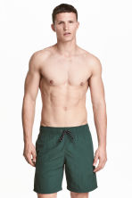 Knee-length swim shorts - Dark green - Men | H&M CN 2
