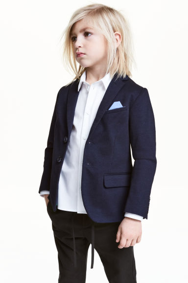 Textured blazer - Dark blue marl -  | H&M CN