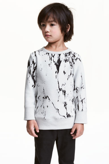 Textured sweatshirt - Light grey - Kids | H&M CN 1