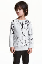 Textured sweatshirt - Light grey - Kids | H&M 1