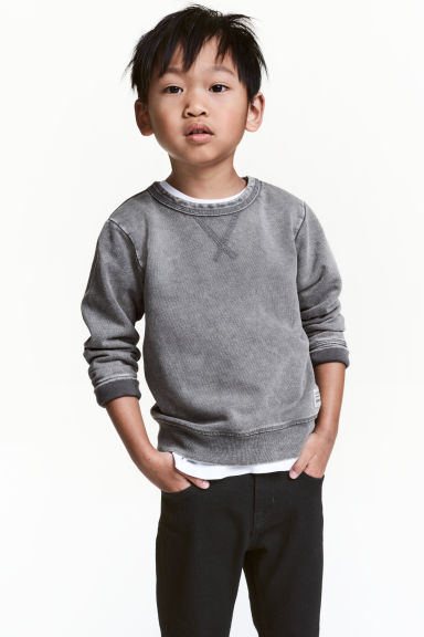 Washed-look sweatshirt - Grey washed out -  | H&M