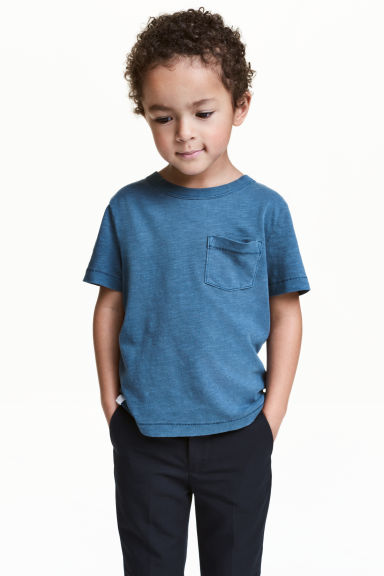 Slub jersey T-shirt - Blue - Kids | H&M 1