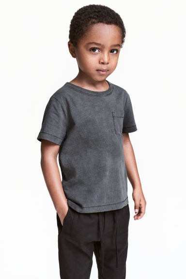 Slub jersey T-shirt - Nearly black - Kids | H&M
