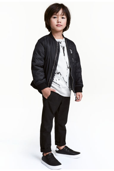 Lyocell-blend pull-on trousers - Black - Kids | H&M CN