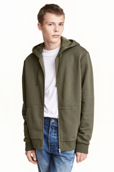 Hooded jacket - Khaki green - Men | H&M 1