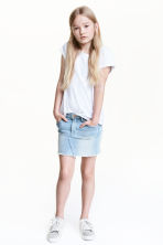 丹寧牛仔裙 - Light denim blue - Kids | H&M 1