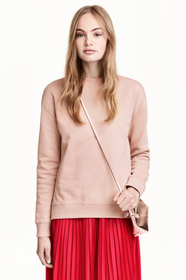 Sweatshirt with side slits - Powder pink - Ladies | H&M