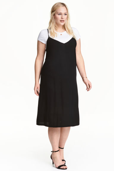 H&M+ Dress with top - Black/White - Ladies | H&M 1