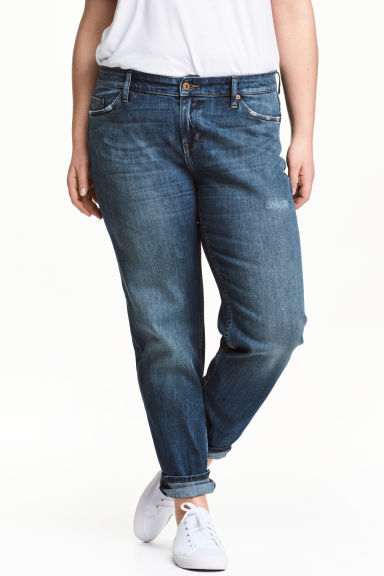 H&M+ Boyfriend Low Jeans - Dark denim blue - Ladies | H&M CN 1
