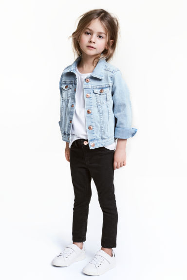 Superstretch Skinny Fit Jeans - 黑色 - Kids | H&M CN