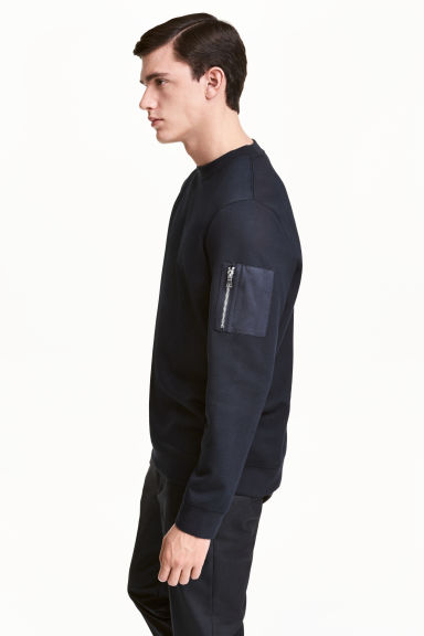 Scuba sweatshirt - Dark blue - Men | H&M