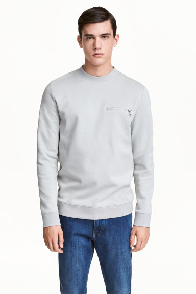 Scuba sweatshirt - Light grey - Men | H&M