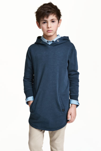 Hooded top - Dark blue - Kids | H&M 1