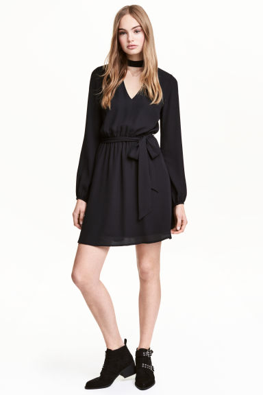 Short dress - Black - Ladies | H&M CA