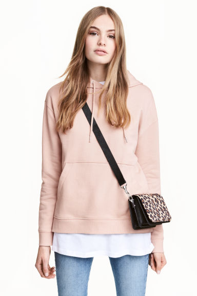 Hooded top - Powder pink - Ladies | H&M 1
