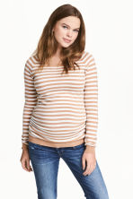 MAMA Knitted jumper - Beige/White/Striped - Ladies | H&M CN 1