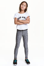 Sports tights - Black marl - Kids | H&M 1