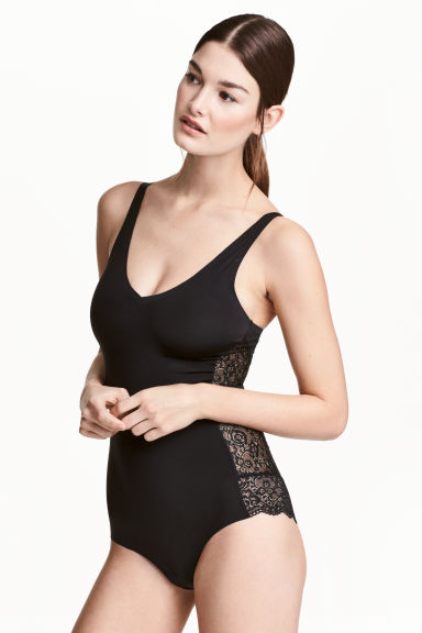 Lightly shaping body - Black - Ladies | H&M CN 1