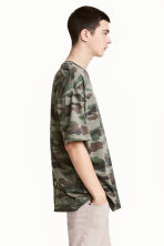 Patterned T-shirt - Khaki/Patterned - Men | H&M 1