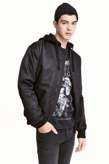 Padded bomber jacket - Black - Men | H&M CN 1