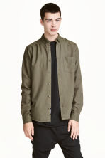 斜紋襯衫 - Khaki green - Men | H&M 1
