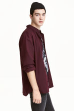 Twill shirt - Dark plum - Men | H&M 1