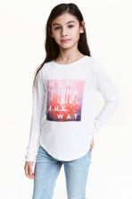 Long-sleeved top - White/New York -  | H&M 1