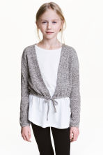 Cropped cardigan - Grey marl - Kids | H&M CN 1