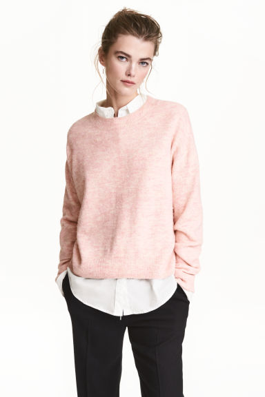 Oversized jumper - Light pink marl - Ladies | H&M
