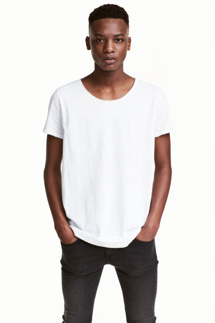 T-shirt avec bords à cru