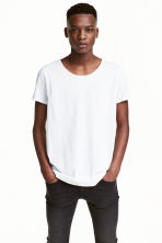 Raw-edge T-shirt - White - Men | H&M CN 1