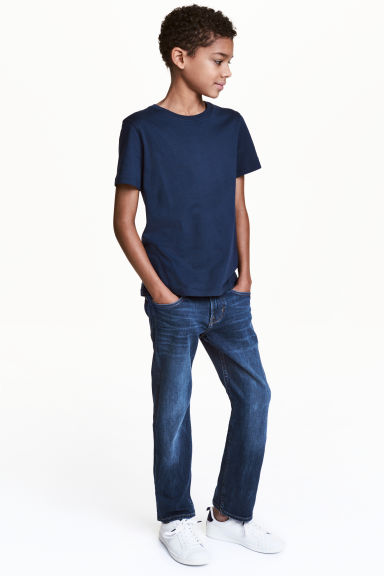 Superstretch Slim fit Jeans - Dark denim blue - Kids | H&M 1