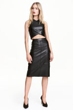 Imitation leather skirt - Black - Ladies | H&M 1