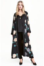 Patterned kimono - Black/Floral - Ladies | H&M GB 1
