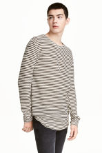Loose-knit jumper - Light beige/Striped - Men | H&M 1
