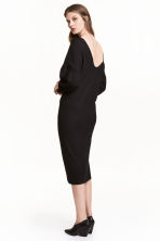 Dress with puff sleeves - Black -  | H&M 1